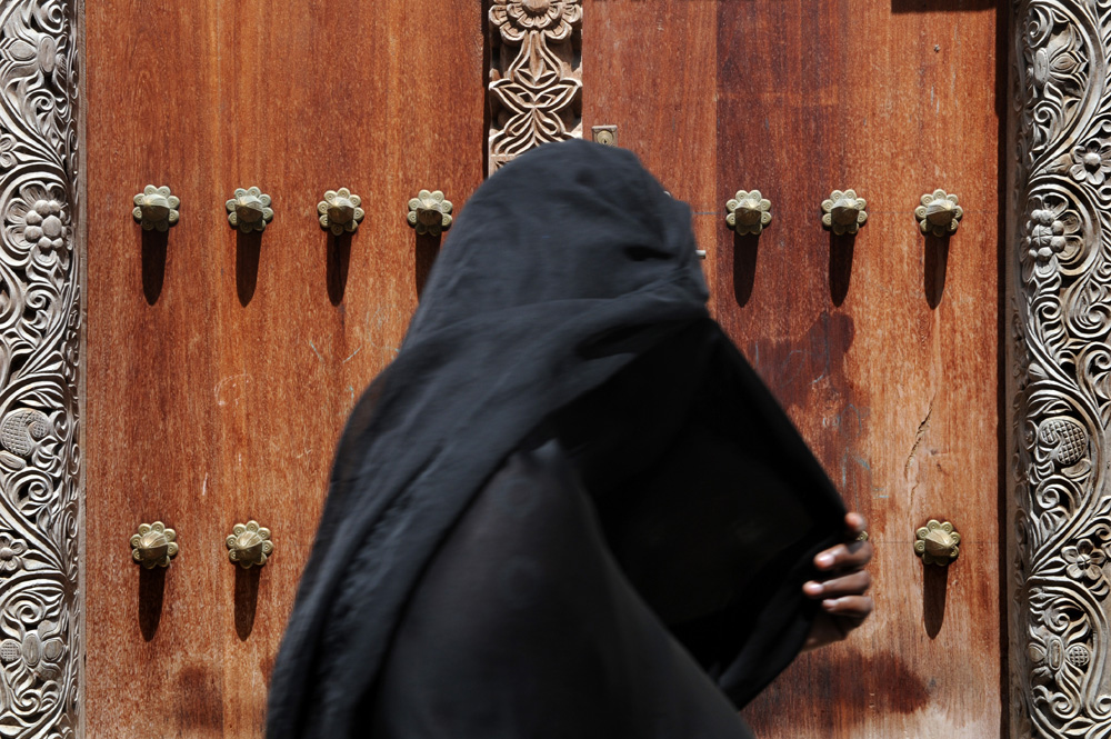 Muslim woman with Niqab veil