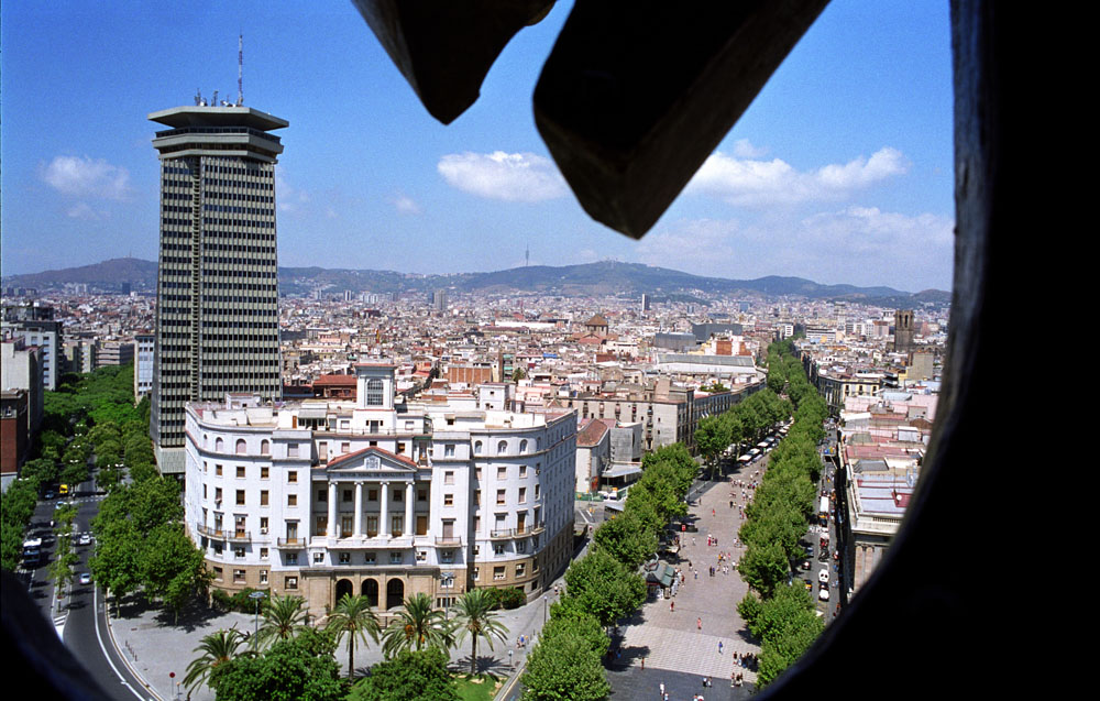 Picture of Barcelona taken from Colon Tower.