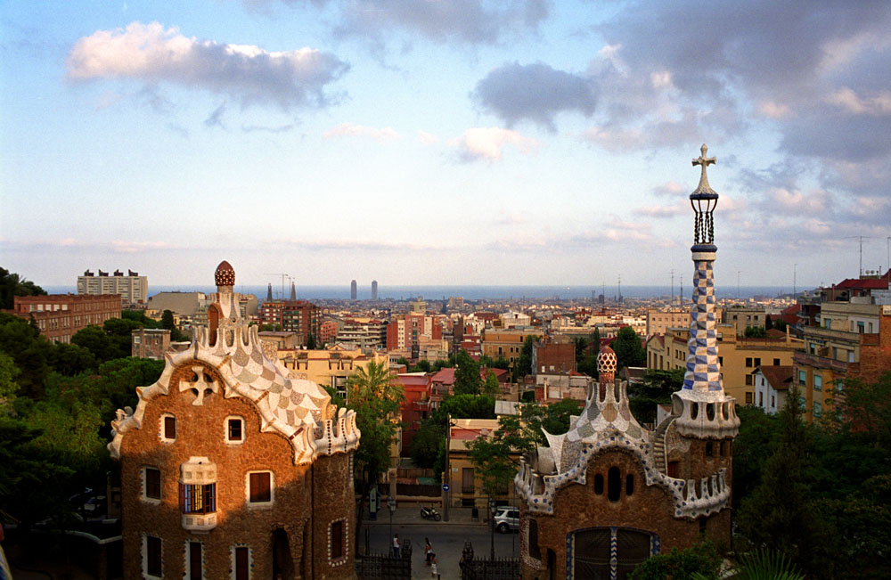 This park was designed by Andonti Gaudí, catalan architect.