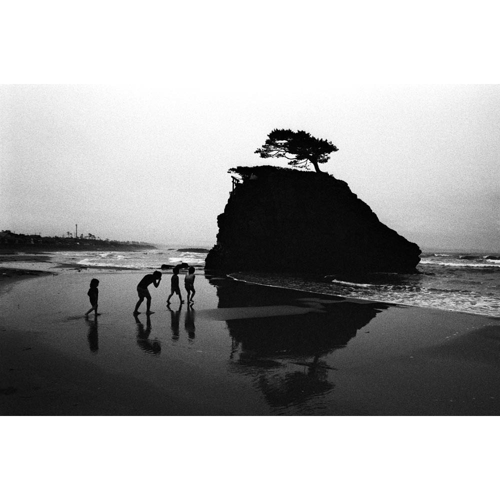 Japanese mythology says that gods descend on this beach. Inasanohama Beach. Izumo, Shimane, Japan, 2010.