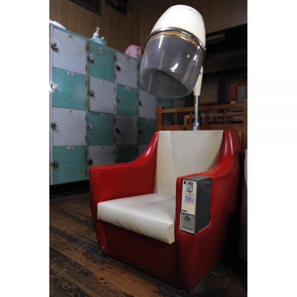 Hair dryer chair in a public bath, sento.