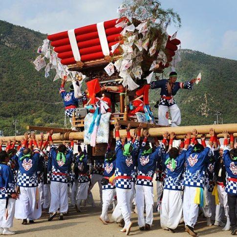 Festival tradicional en Shodoshimma, viaje fotográfico a Japón